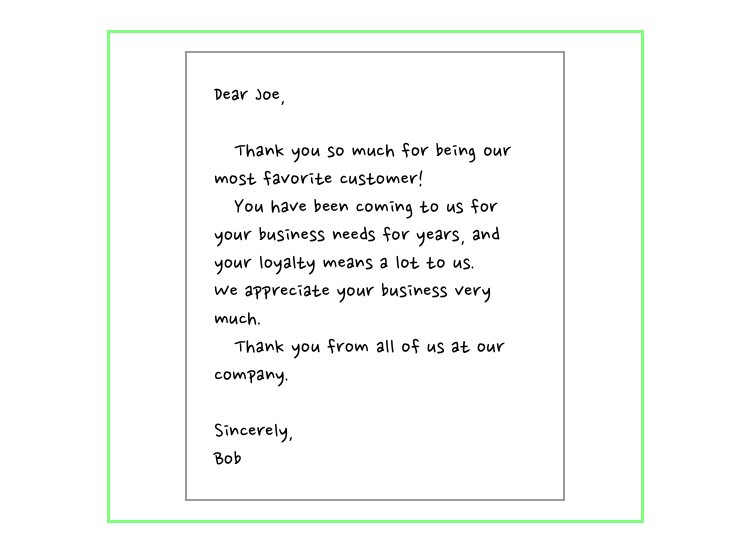 Handwritten Thank You Notes - Customer Retention