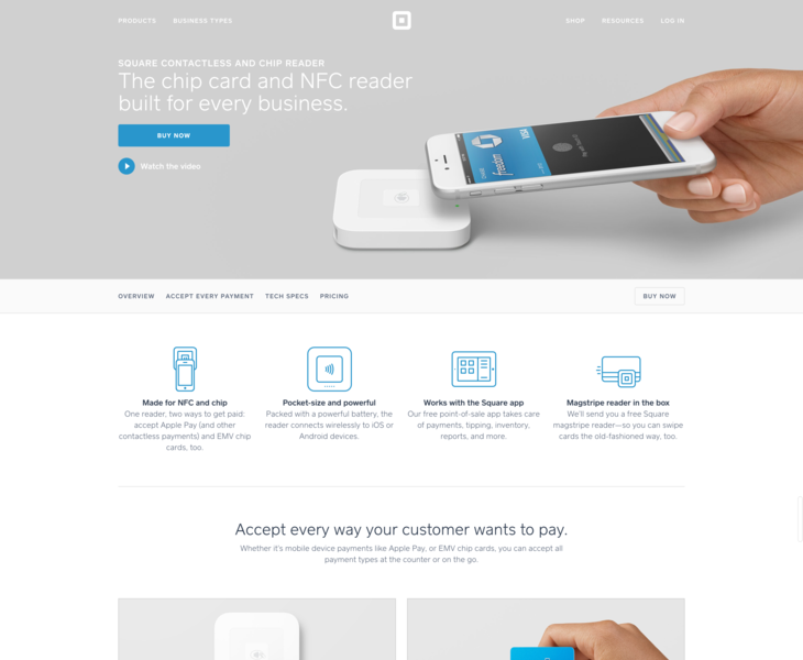Square | NFC | Land-book - the finest hand-picked website inspirations