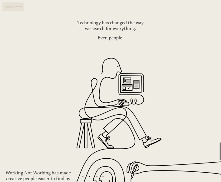 Working Not | Land-book - the finest hand-picked website inspirations