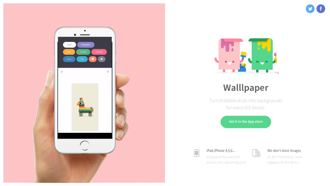 Walllpaper - Dribbble art turned into wallpapers for your phone