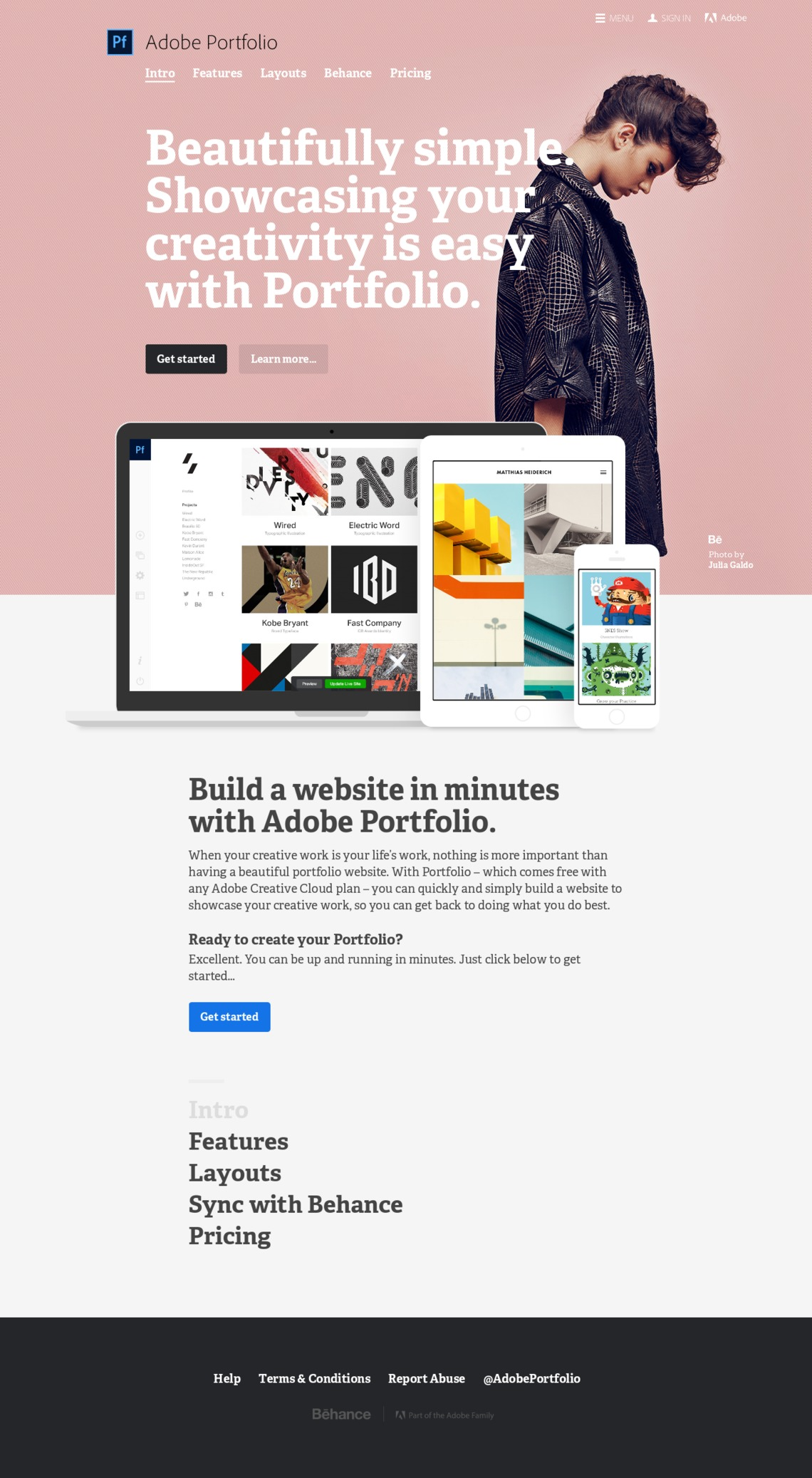 Adobe Portfolio | Build your own personalized website