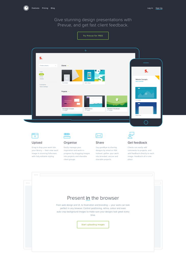 Prevue. Easy design presentation for agencies.