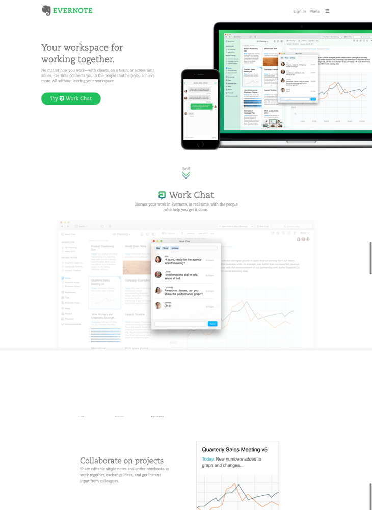 Evernote | Work Chat