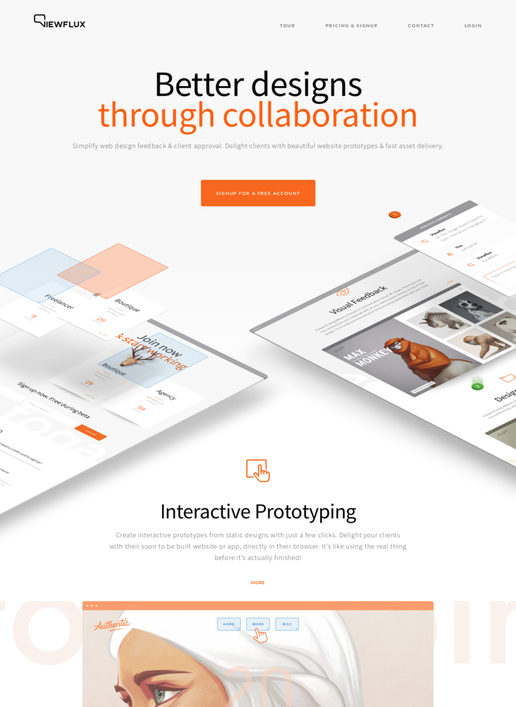 ViewFlux - web design feedback, prototyping & collaboration for designers