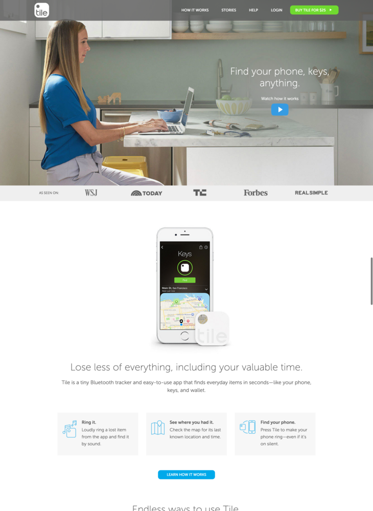 Tile - Never Lose Your Keys, Wallet Or Anything Again