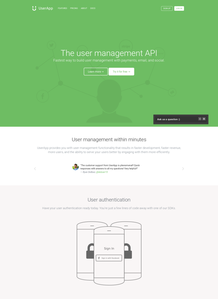 User Management for Web & Mobile Apps with UserApp