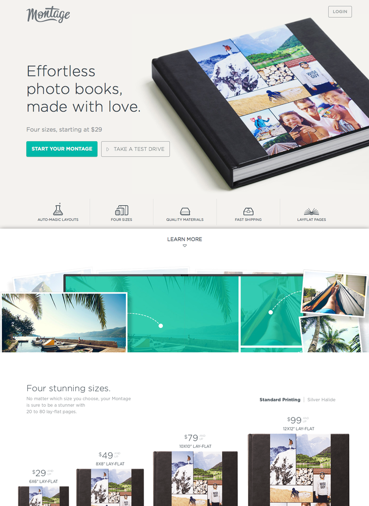 Montage - Effortless Photo Books, Made with Love.