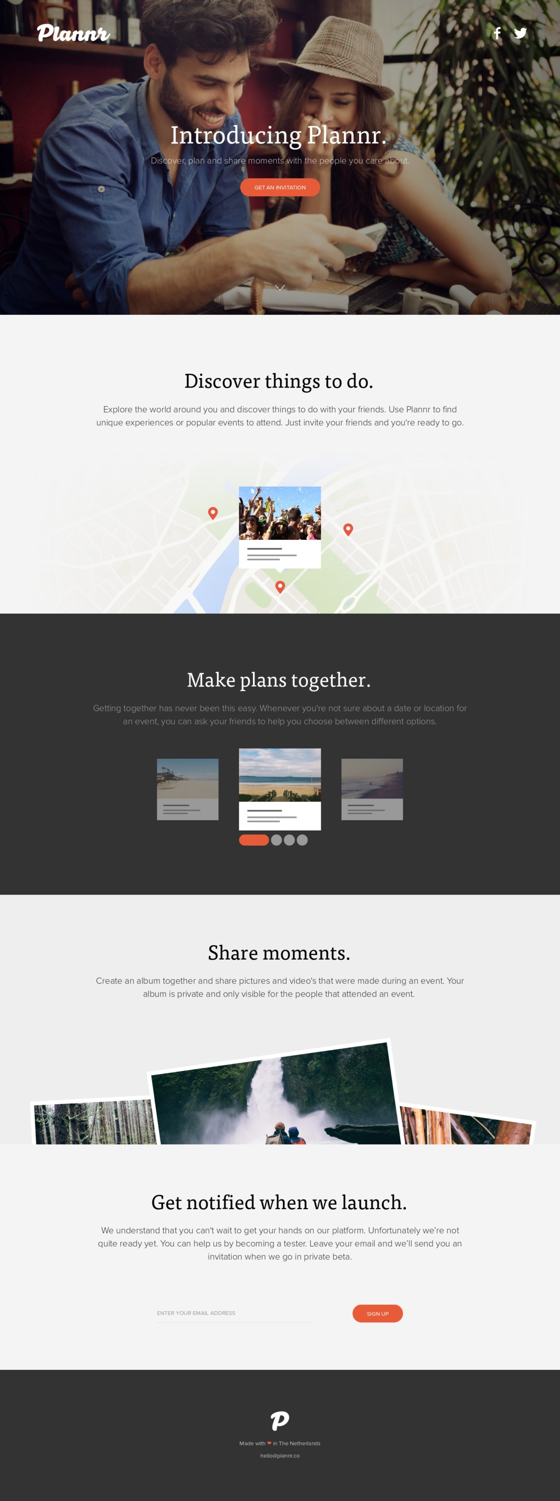 Plannr - Discover, plan and share moments with your friends.