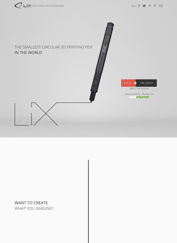 LIX - The Smallest Circular 3D Printing Pen in the World