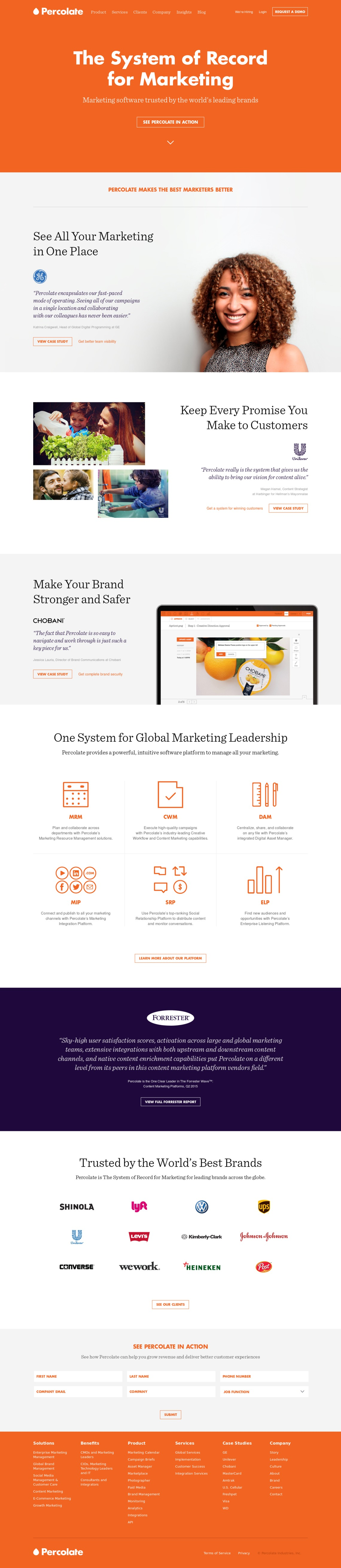 Percolate | Complete Marketing Software for Global Brands