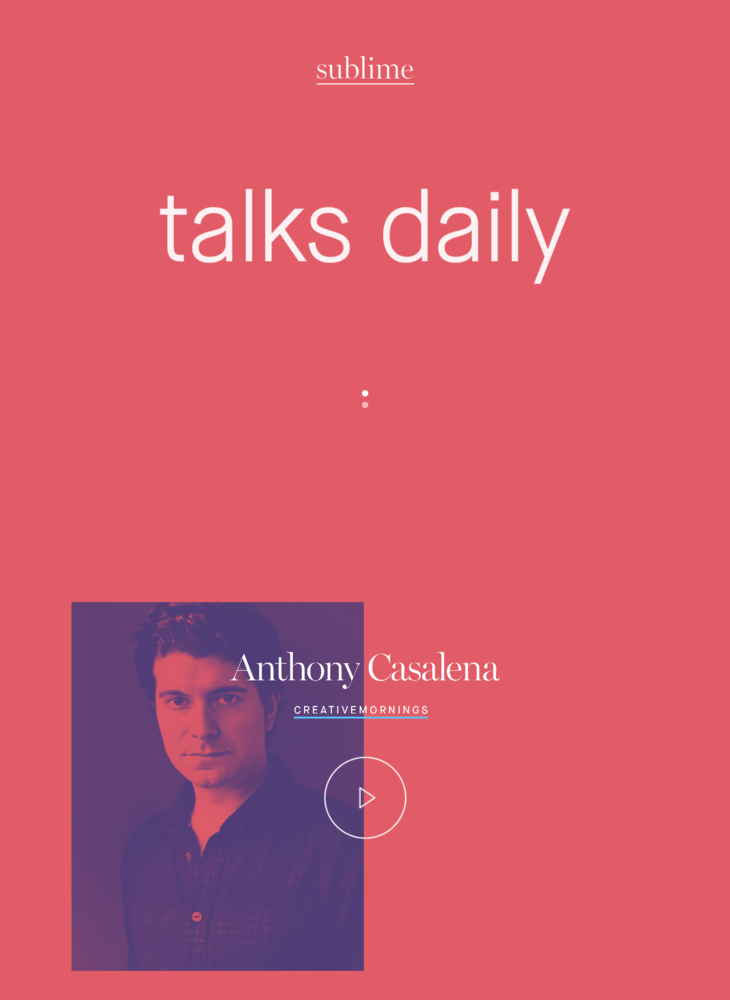 sublime – talks daily