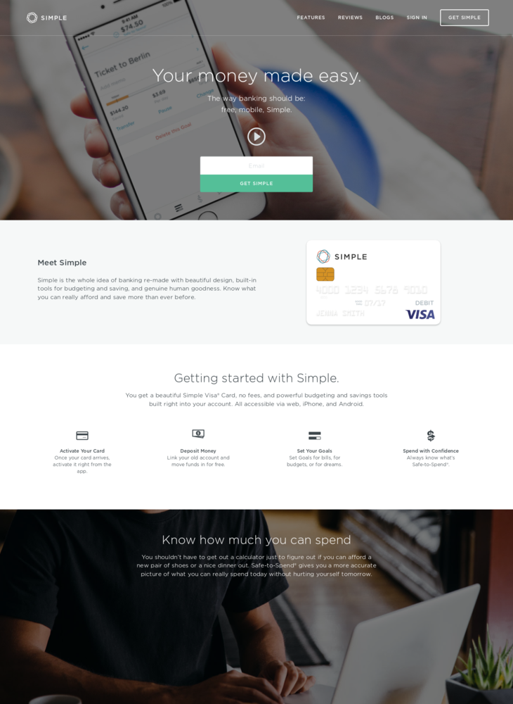 Simple | Online Banking With Automatic Budgeting & Savings