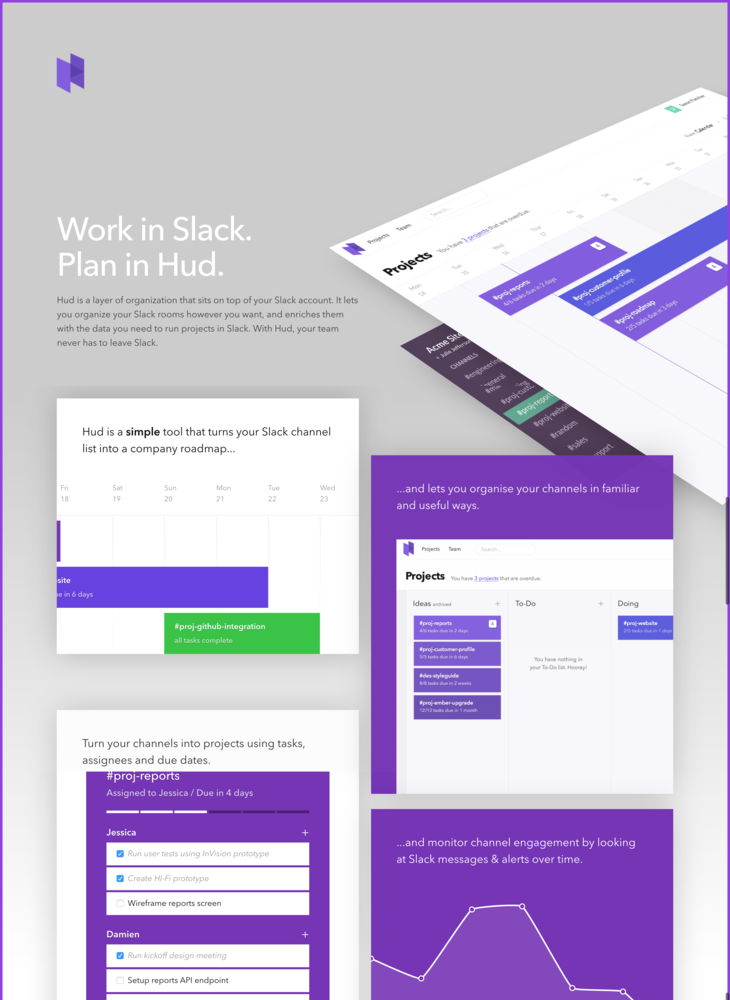 Hud - Project Management for Slack