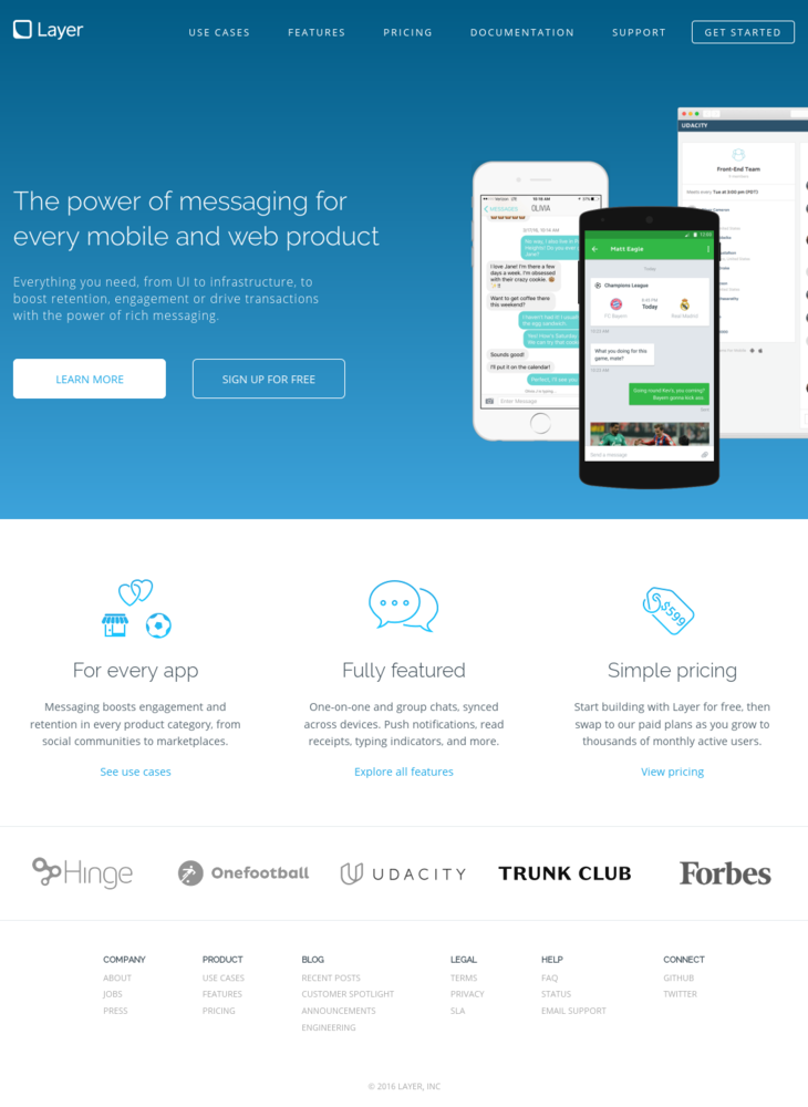 Layer - The power of messaging for every mobile and web product