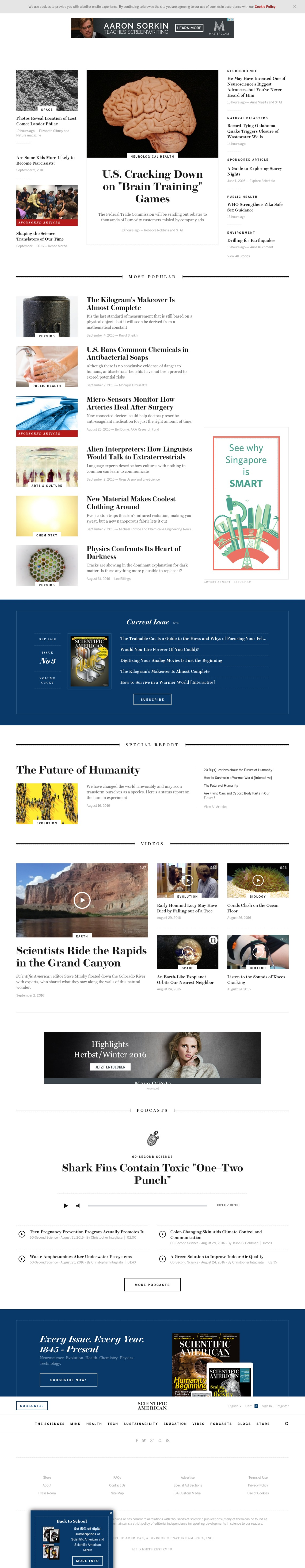 Scientific American | Science News, Articles, and Information
