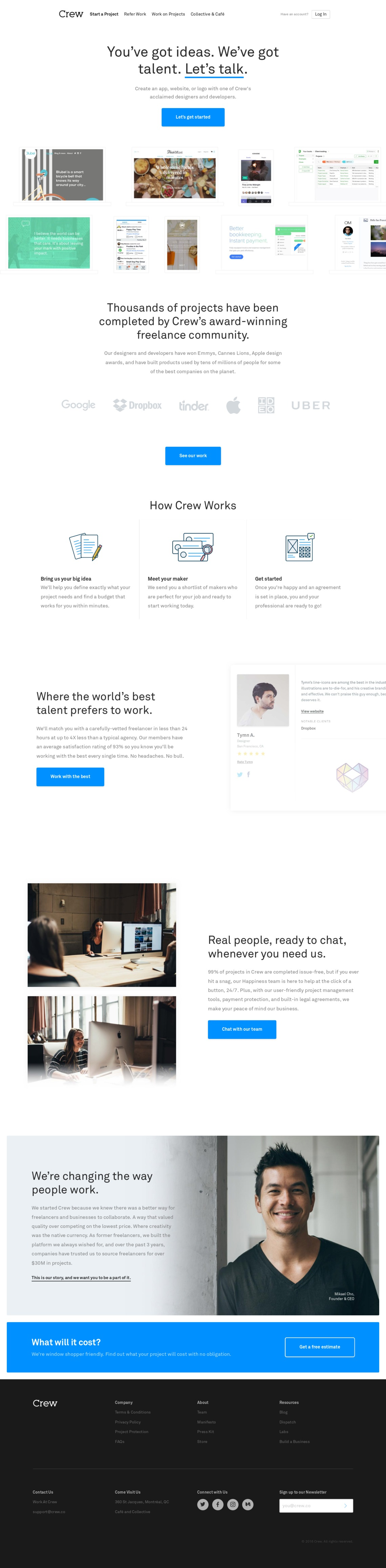 Crew | Handpicked Freelance Web Design & Web Developers