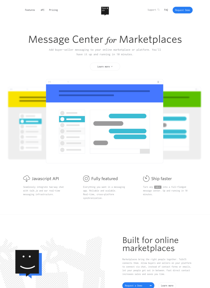 TalkJS. Message Center for Marketplaces.