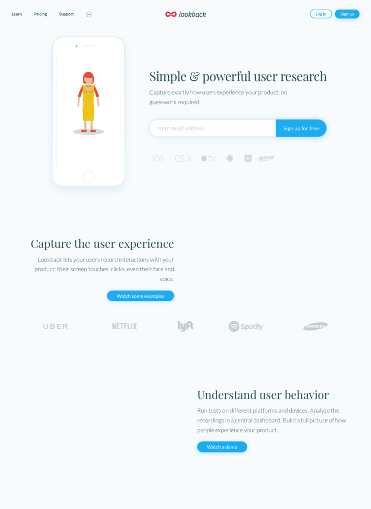 Lookback: Simple and powerful user research
