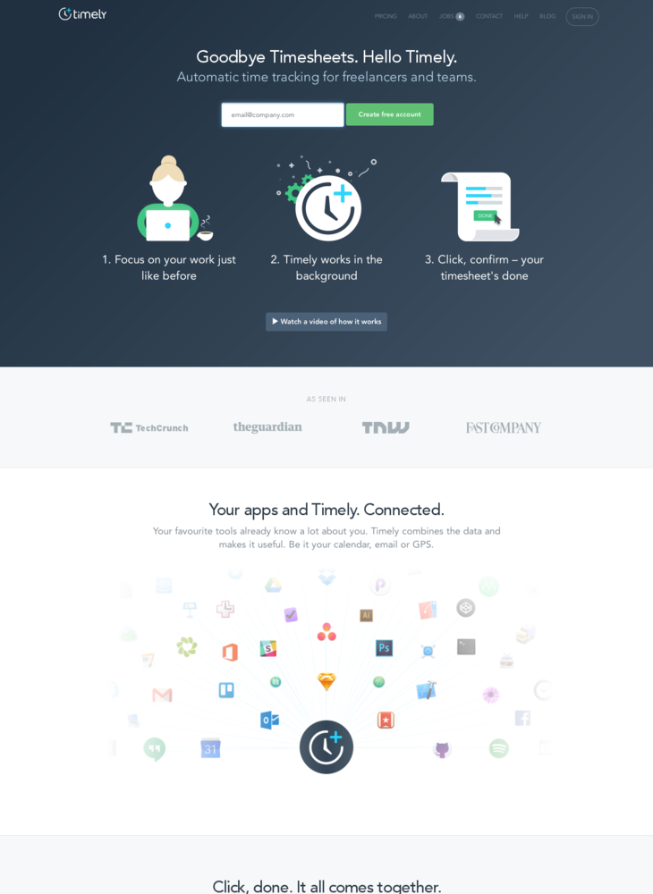 Timely – Automatic Time Tracking for Freelancers and Teams