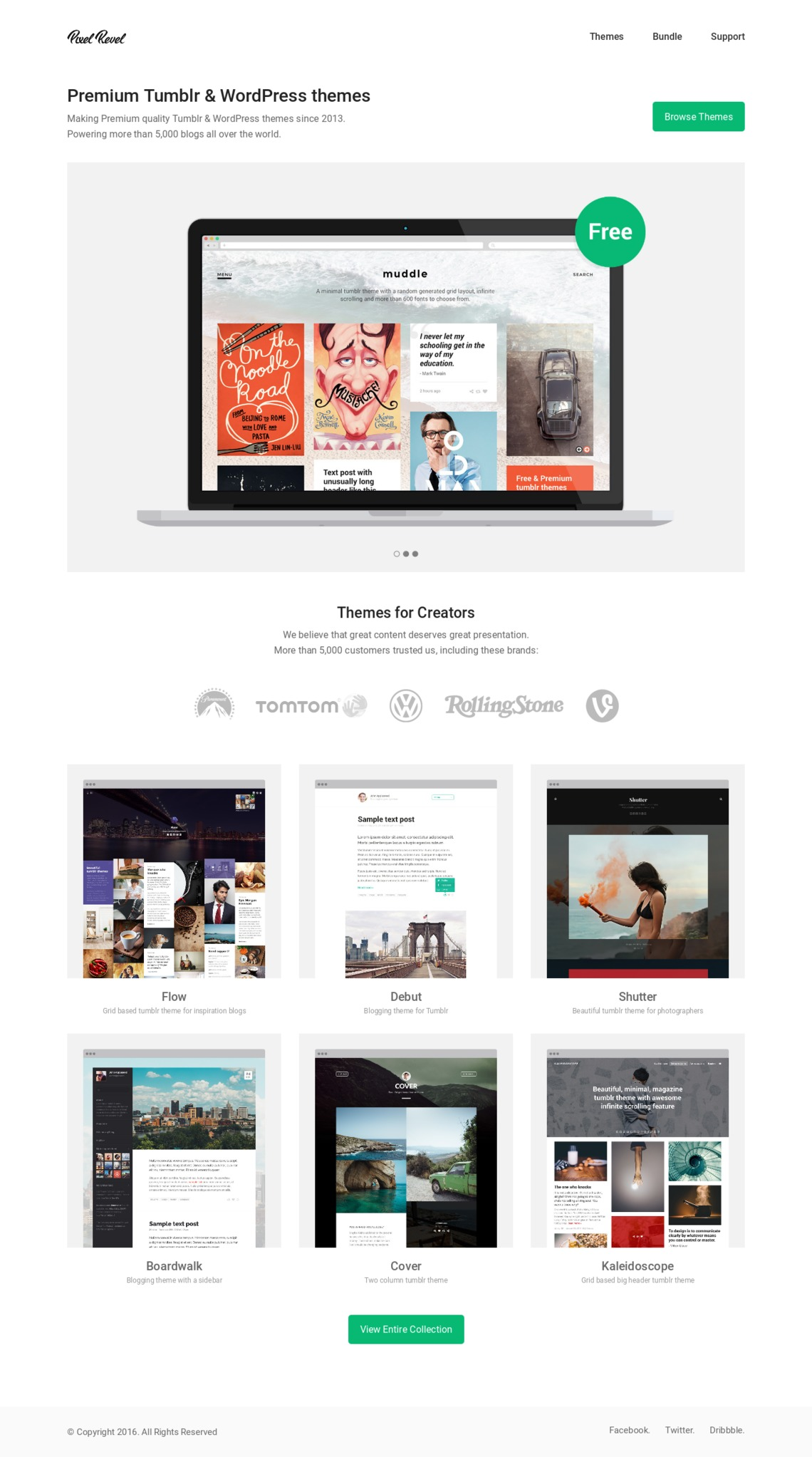 Pixel Revel | Land-book - the finest hand-picked website inspirations