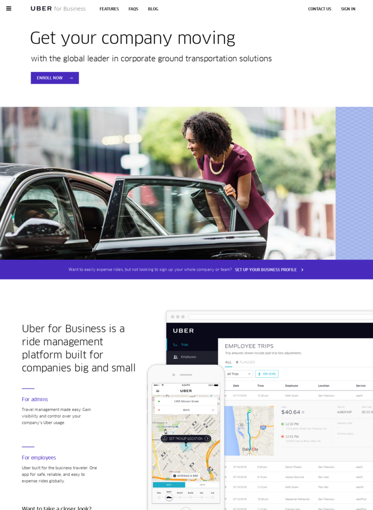 Corporate Travel Management | Uber for Business