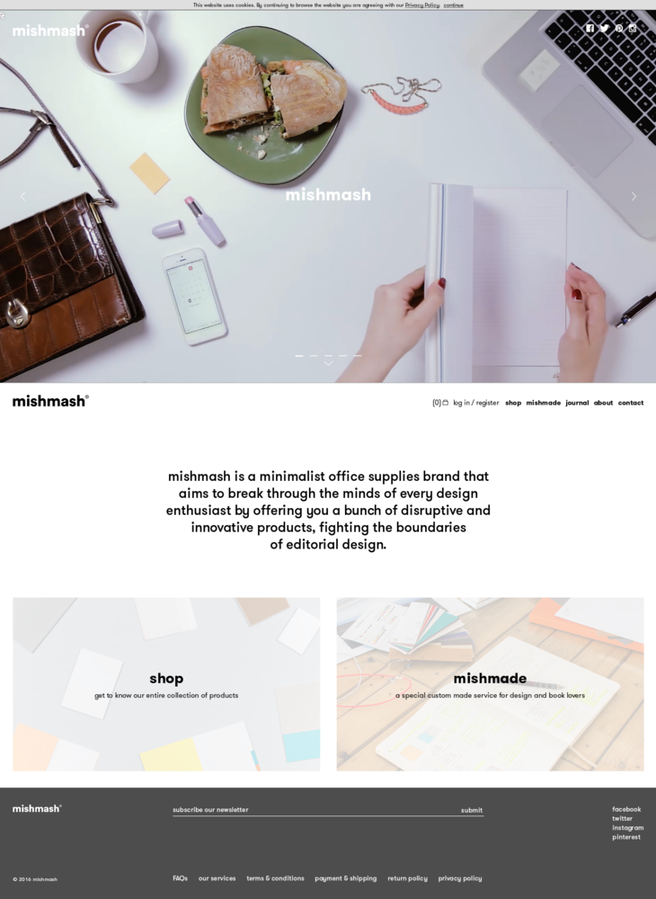 mishmash | creative notebooks for your minimalist workspace