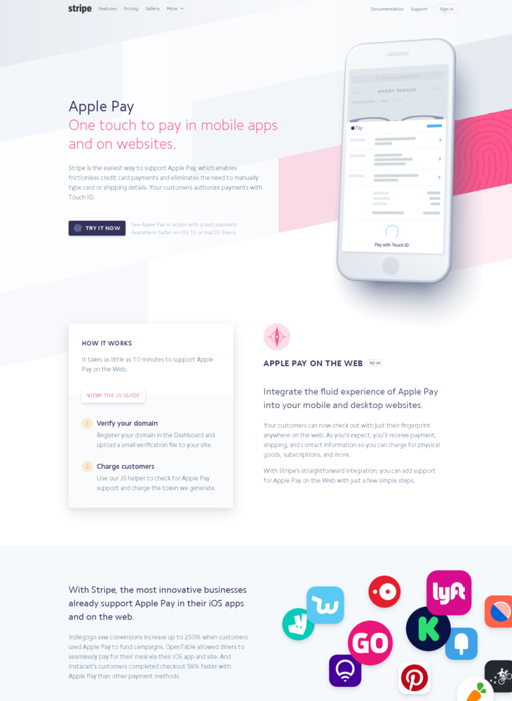 Stripe: Apple Pay on the Web