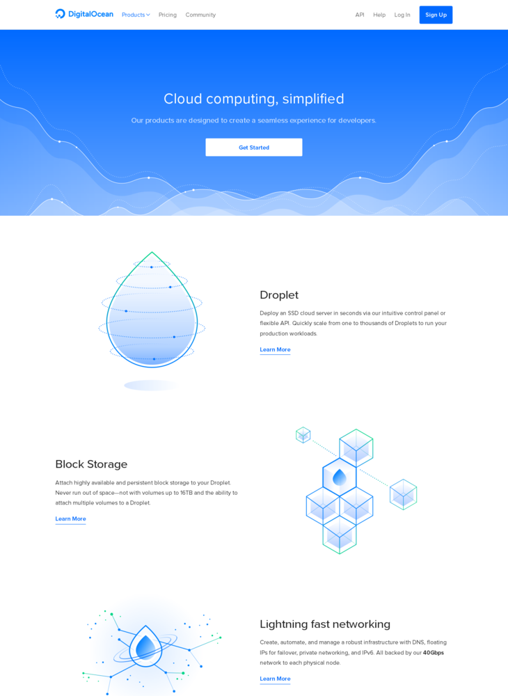 Products on DigitalOcean | Cloud computing for developers