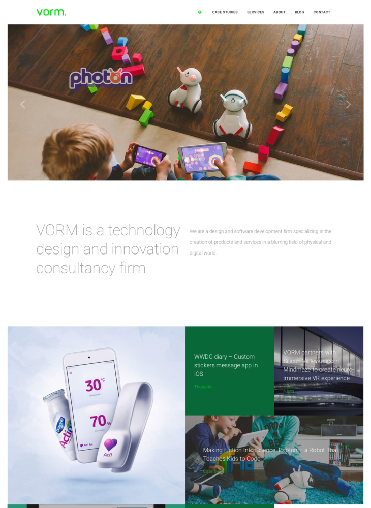 VORM | Technology Design and Innovation Consultancy Firm