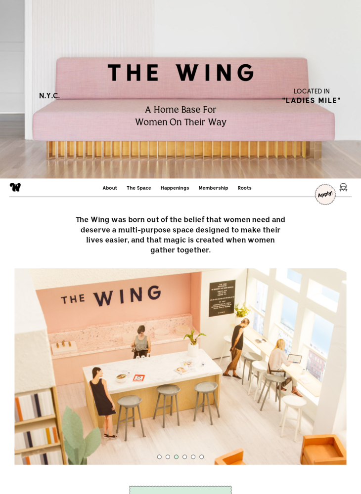 Home Base & Social Club for Women in New York - The Wing