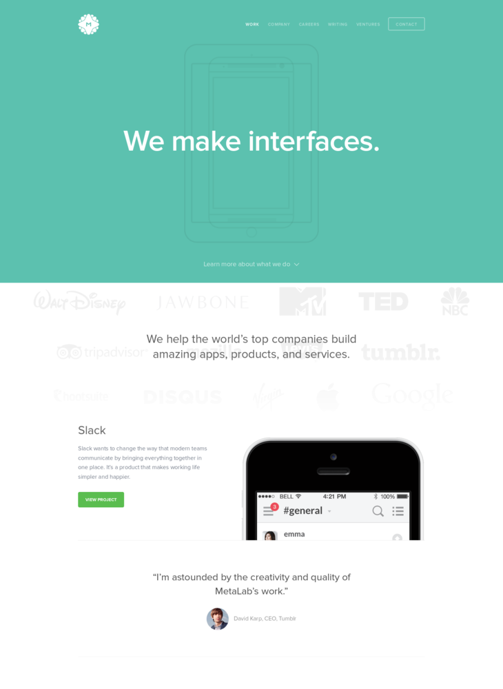 MetaLab - We make interfaces.