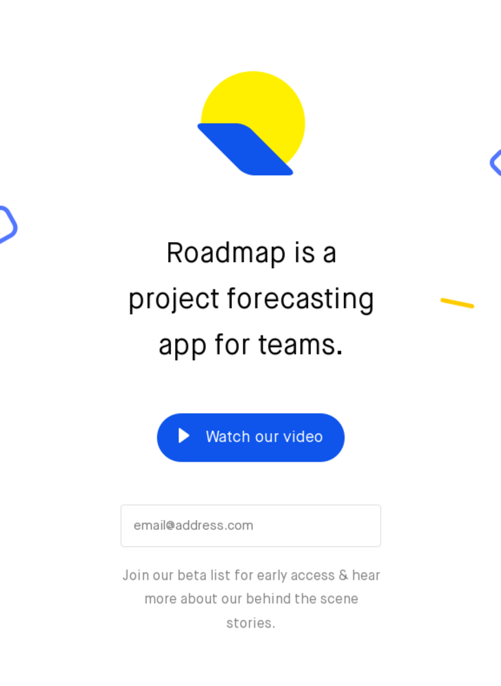 Roadmap | A Project Forecasting App for Teams