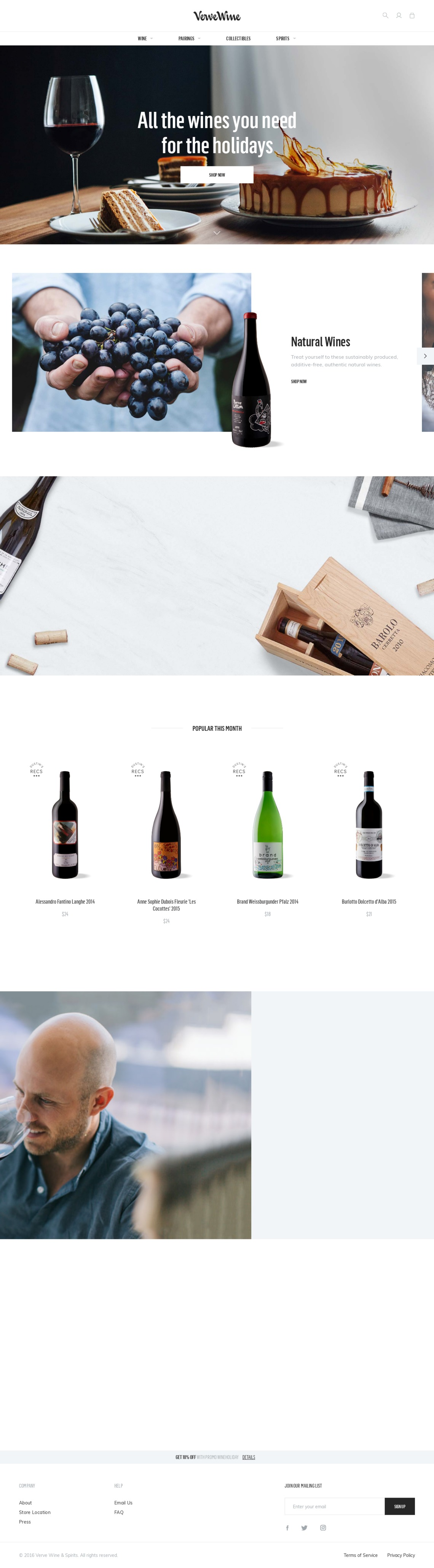 Buy Wine Online, Delivery, Wine Tasting NYC | Verve Wine