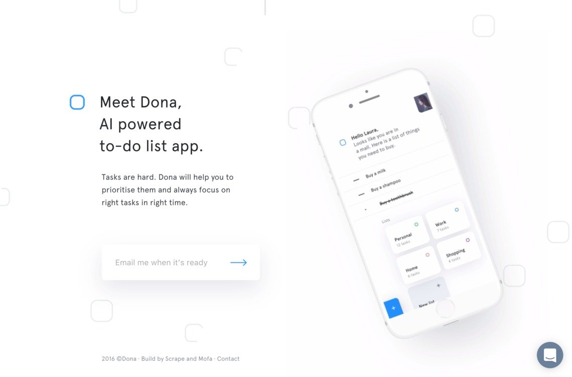 Meet Dona, AI powered to-do list app.