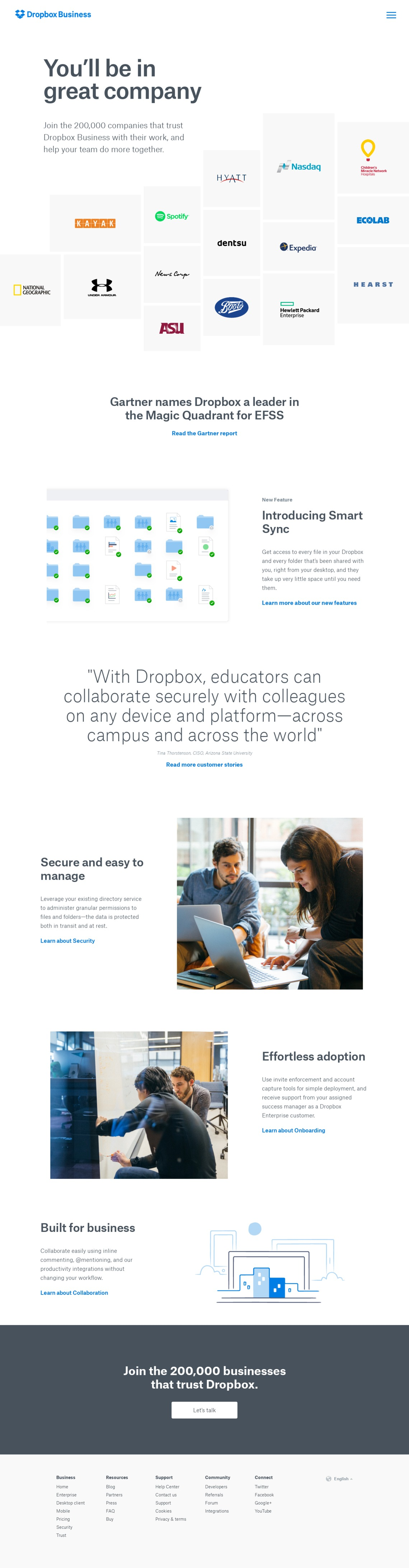 Enterprise File Sync and Share - EFSS - Dropbox Business