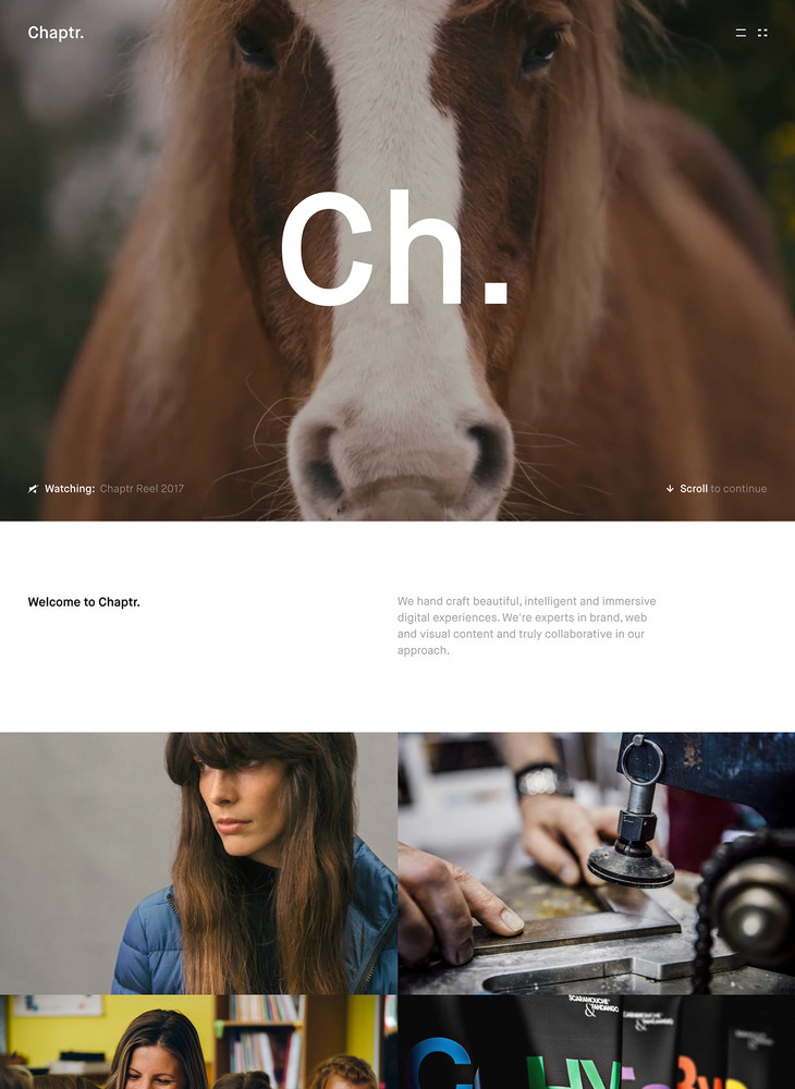 Chaptr | A Multidisciplinary Creative Studio | Bespoke Web Design