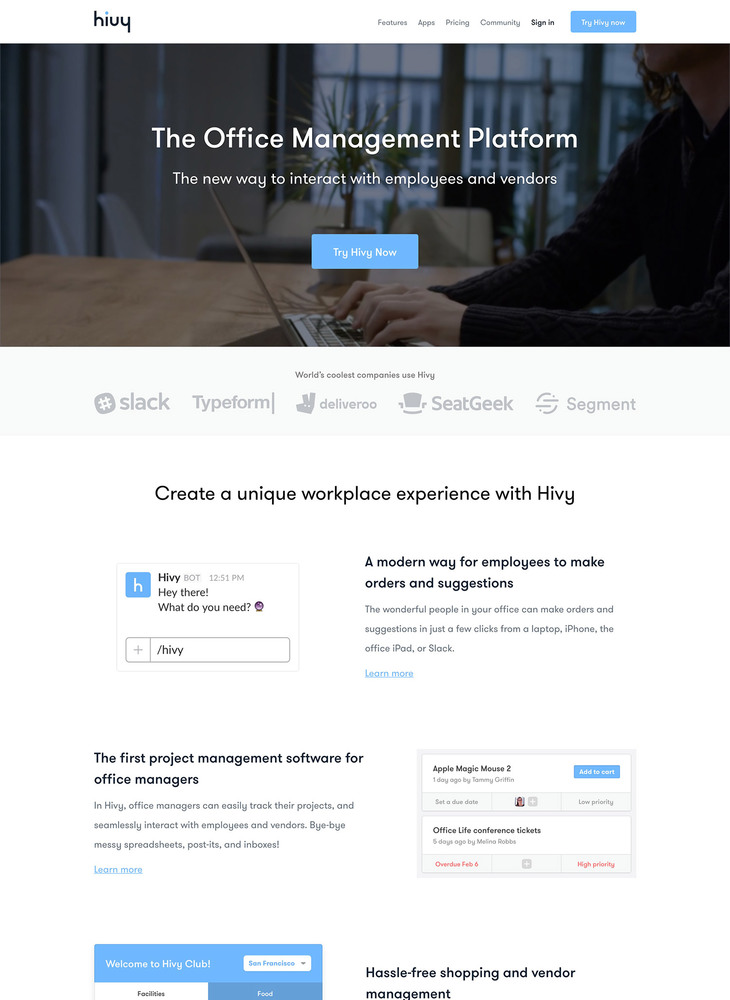 Hivy • The Office Management Platform
