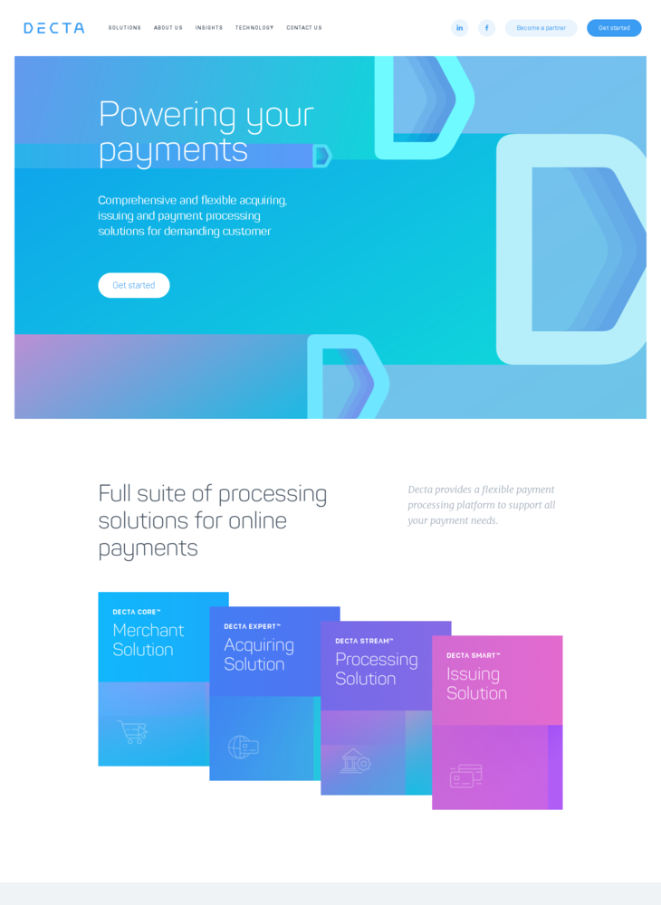 Flexible online payment services | DECTA