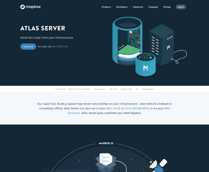 Atlas Server | Land-book - the finest hand-picked website inspirations