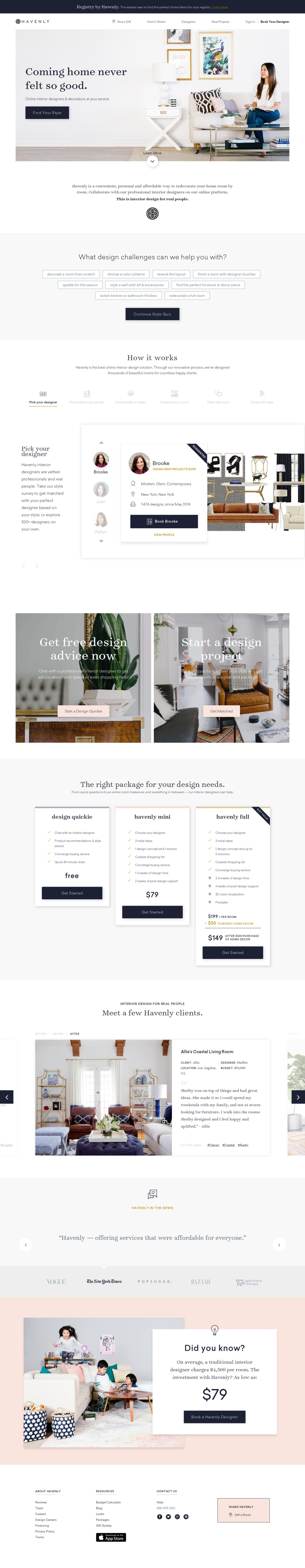Havenly - Effortless Online Interior Design & Decorating Services