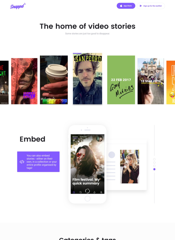 Snappd | the home of the vertical video