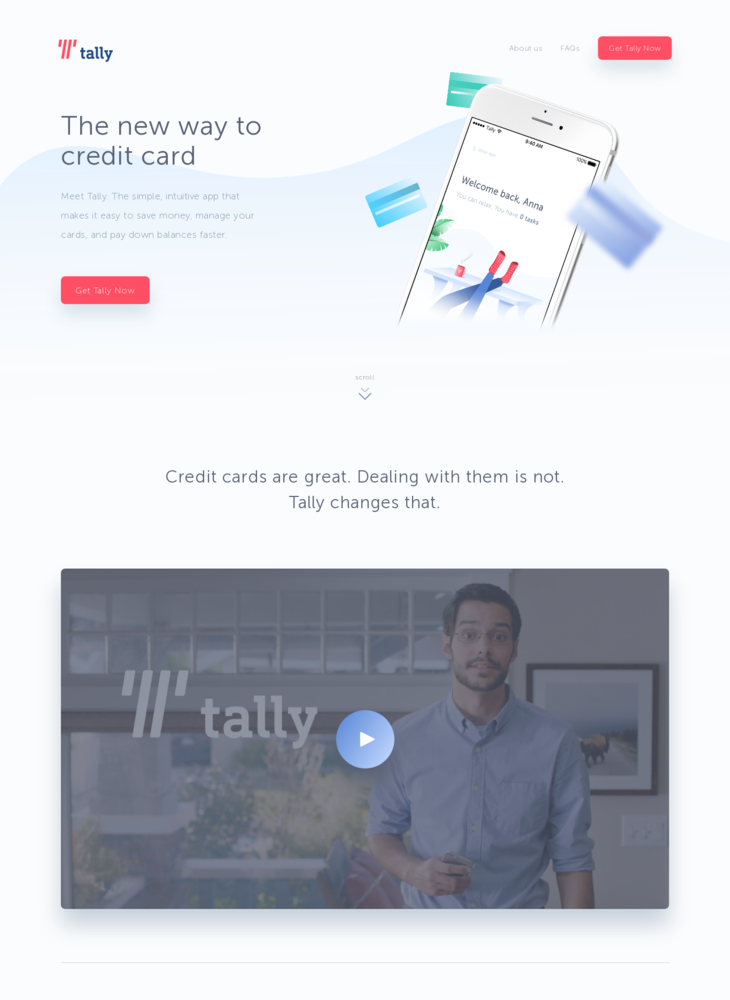 Tally - The new way to credit card