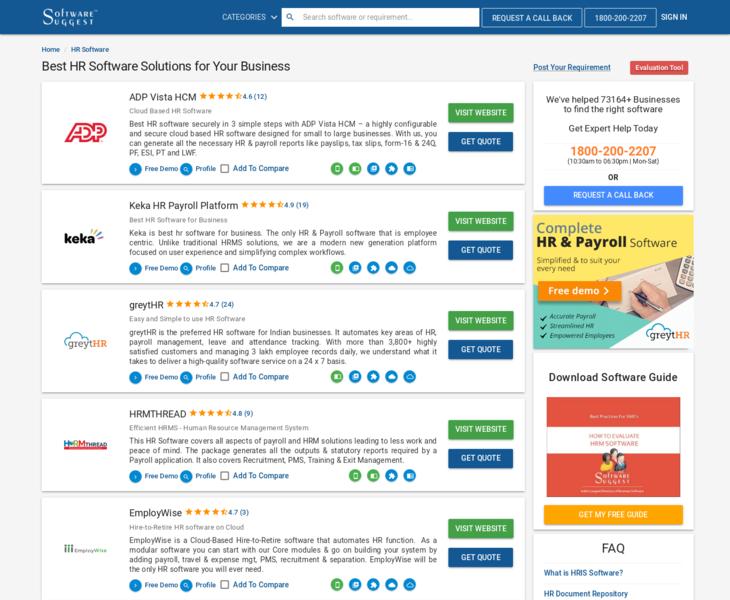 Best HR | Land-book - the finest hand-picked website