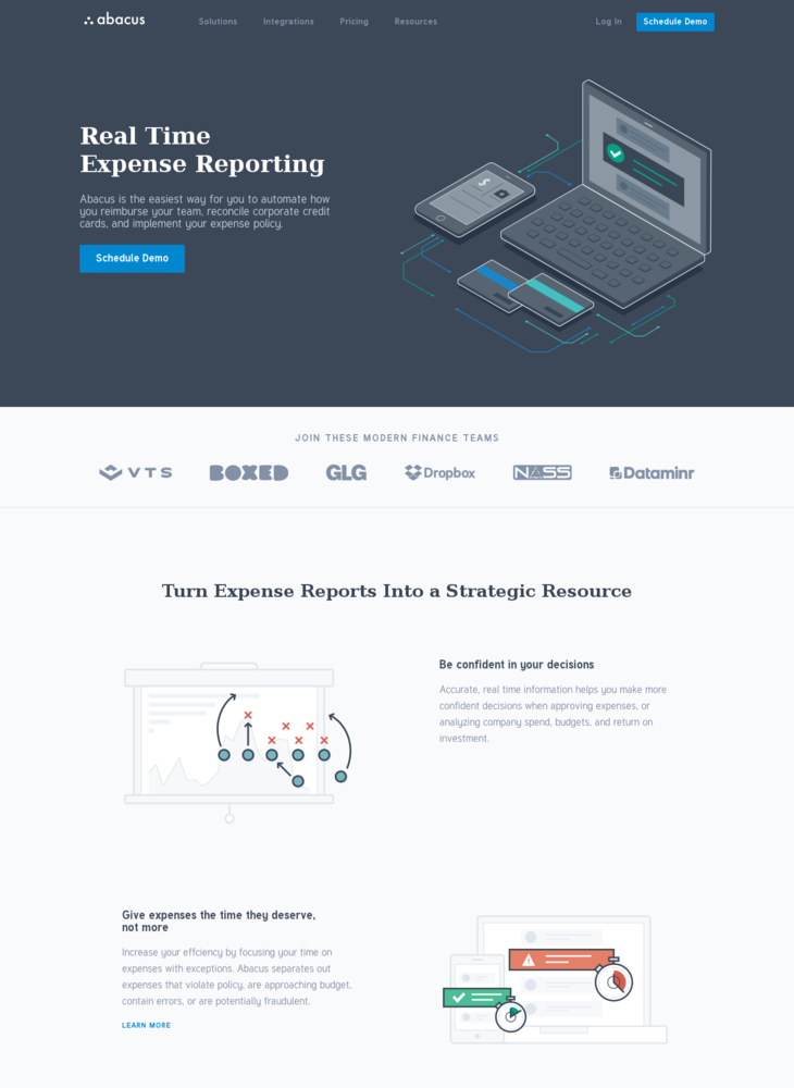 Real Time Expense Reporting Software - Abacus
