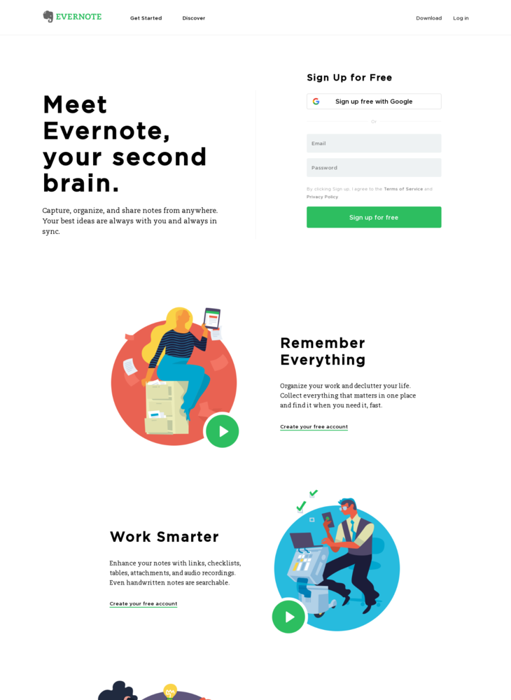 Get organized. Work smarter. Remember everything. | Evernote
