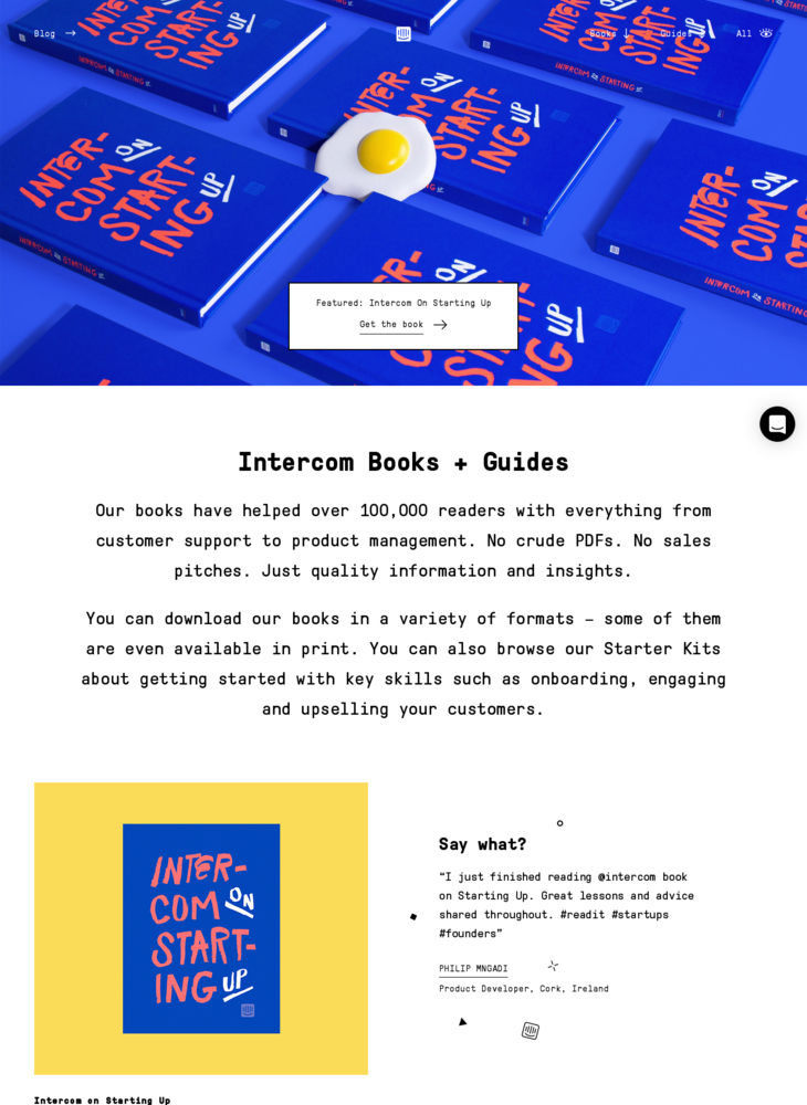 Books + Guides | Intercom
