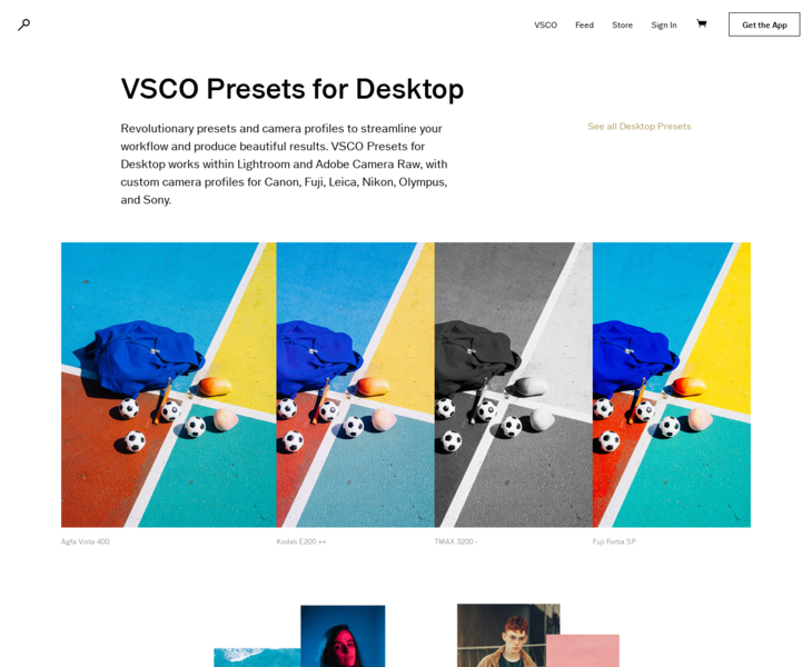 VSCO Film | Land-book - the finest hand-picked website