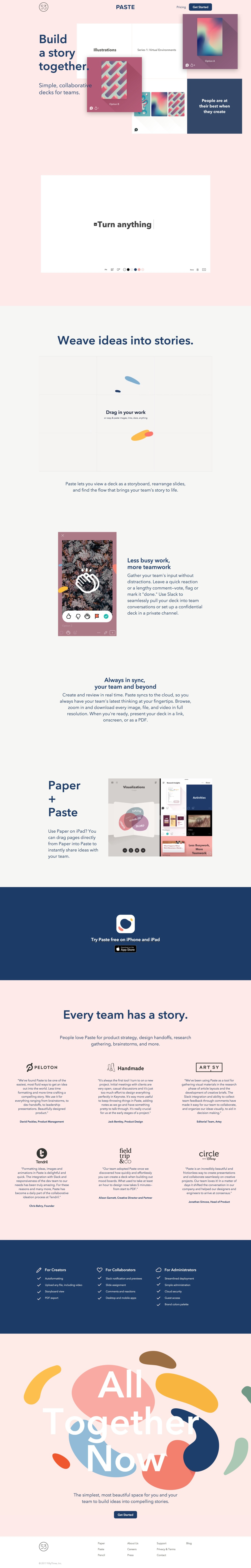 Paste by FiftyThree | Decks for Creative Teams