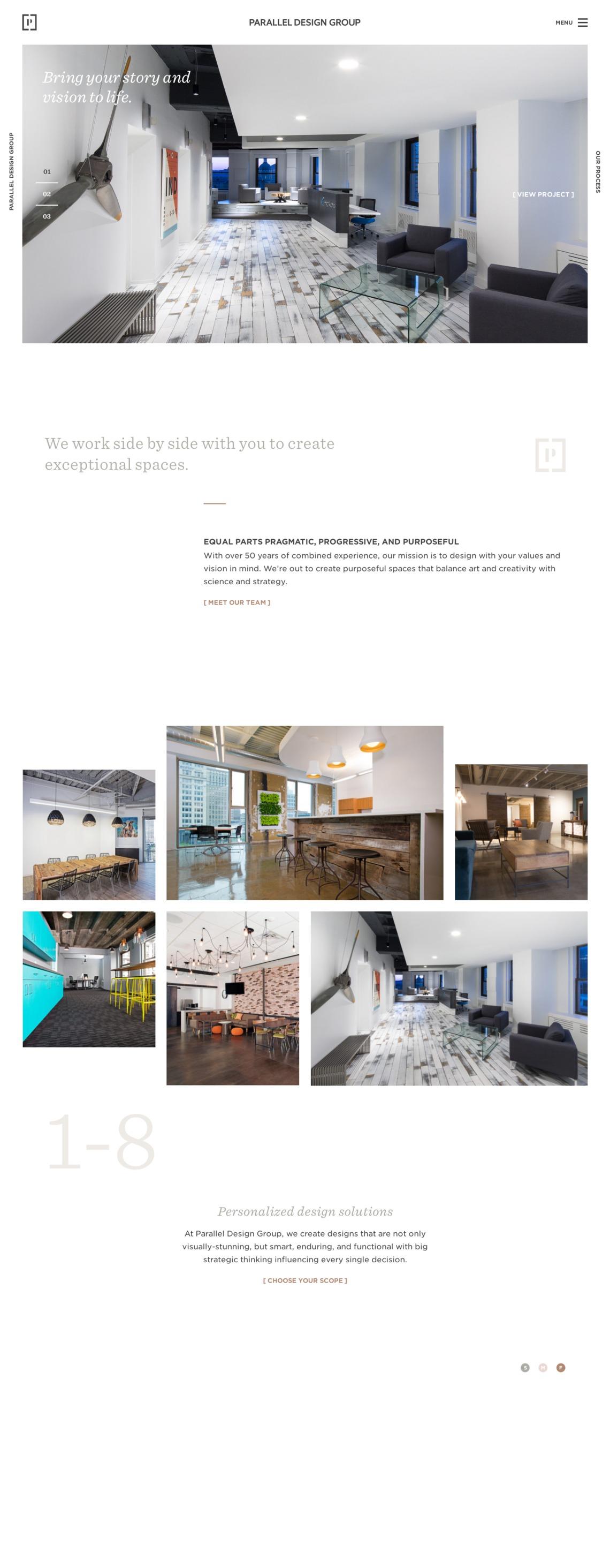 Parallel Landbook the finest handpicked website inspirations