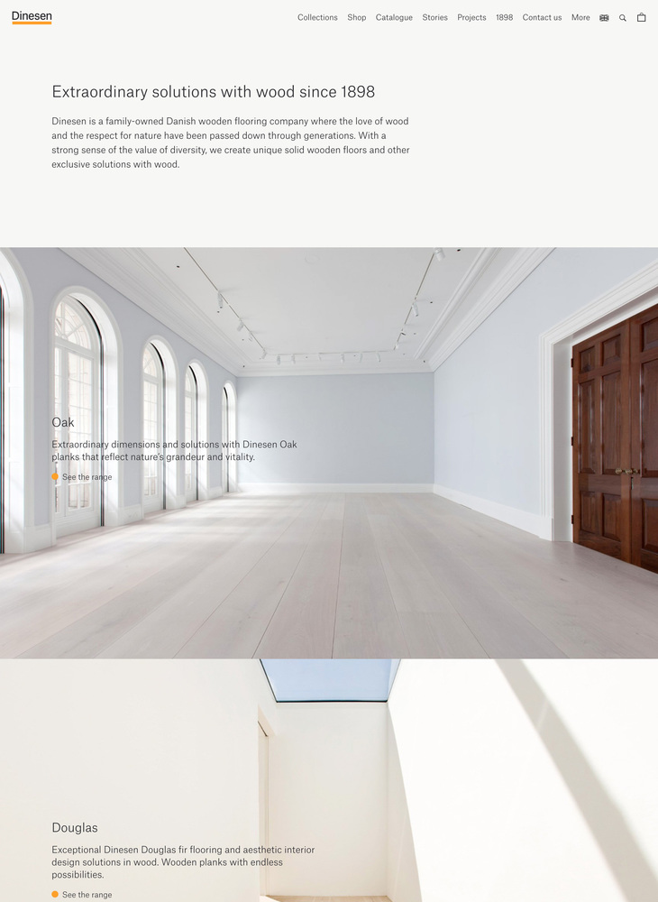 Dinesen - Unique solid wooden floors of Oak and Douglas